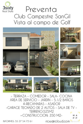 Preventa Casa Sangil, Club De Golf, Queretaro