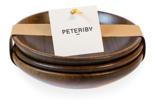 Cuencos De Madera X3  Peteriby - Línea Gourmet