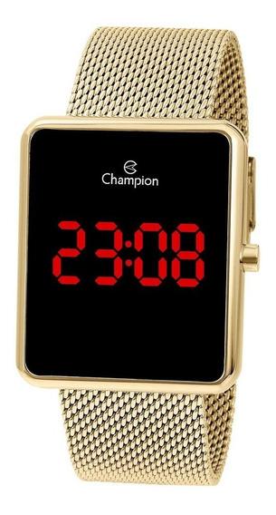 Relógio Quadrado Dourado Ouro 18k Original 1 Ano De Garantia