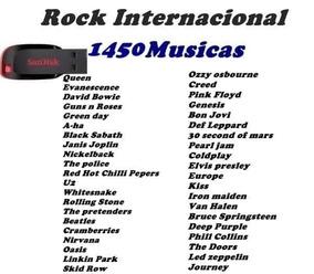 Pen Drive Rock Internacional Musicas Colecção
