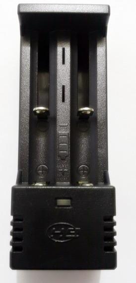 Carregador Duplo Bateria 18650 Lanterna Tatica Bivolt Rapido