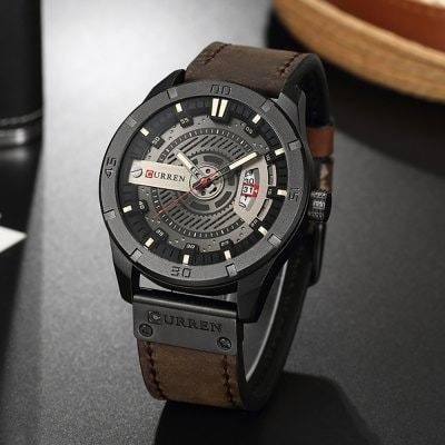 Relógio Analógic Masculino Fashion Elegante Curren 8301 Café