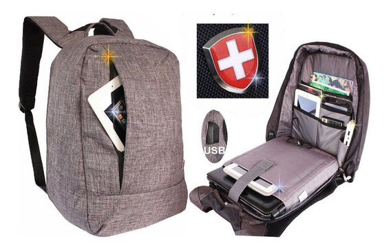 Mochila Feminina / Masculina Anti Furto Usb Notebook