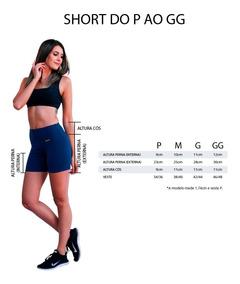 Kit C/ 4 Short Feminino Suplex Fitness Academia Ginastica