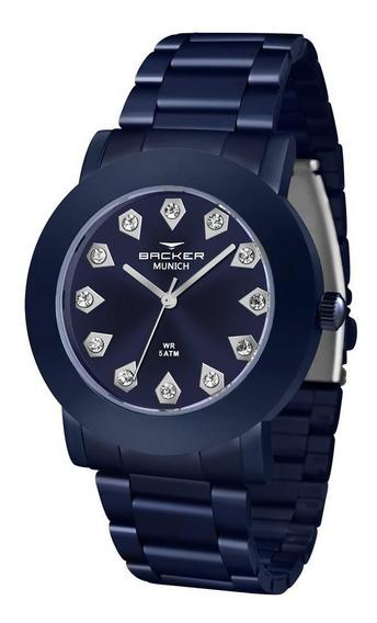 Relógio Backer Feminino Ref: 12031113f Az Fashion Azul