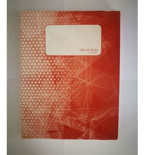 Libro De Actas De 200 Folios Pack  2 Und