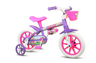Bicicleta Infantil Aro 12 Violet - Nathor - Rosa/roxa