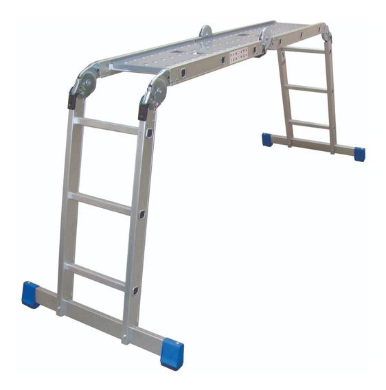 Escalera Multiposiciones Acero-aluminio C/charolas 3.54 Mts