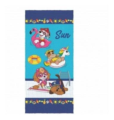 Imagem 1 de 1 de Toalha De Banho Infantil Felpuda Patrulha Canina Lepper