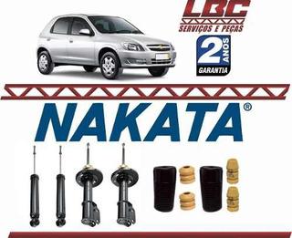 Kit 4 Amortecedor Original Nakata + Kit Celta 2004 2005 2006