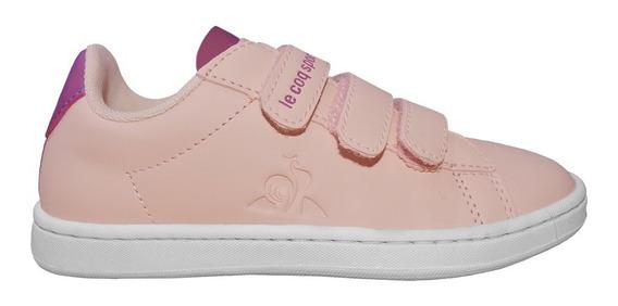Zapatillas Lecoq Sportif Niña Courtset Urbanas Original Rosa