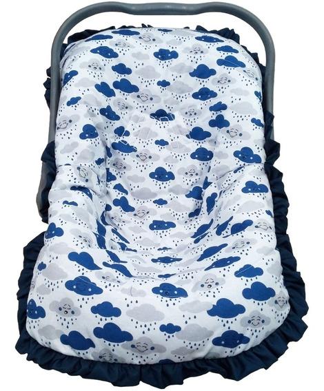 Capa Bebê Conforto Menino Nuvem Azul Marinho Tamanho Único