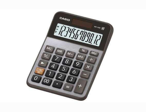 Calculadora De Mesa Casio Mx 120b 12 Digitos Solar