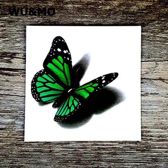 Tatuagem De Henna A Prova Dàgua Borboleta Verde 60 * 60mm