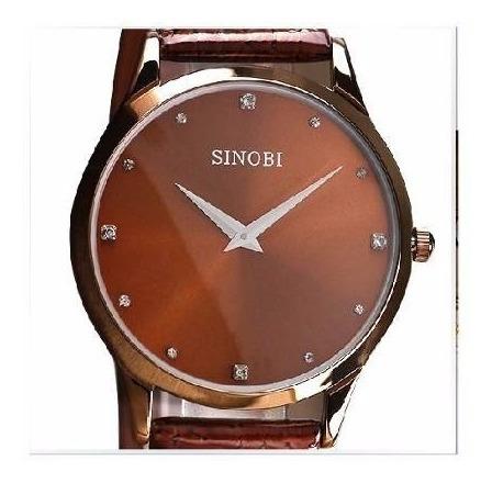 Relógio Masculino Pulso Sinobi Analógico Snb002 Marrom