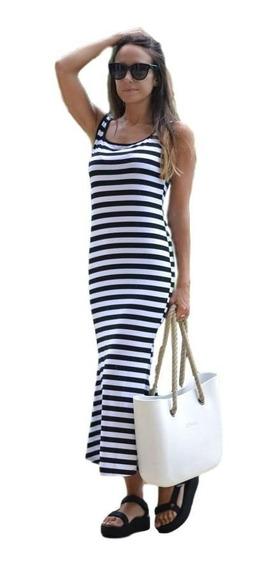 Vestido Largo Solero Rayado - Catalina* Chuva Ropa