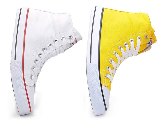 Kit Dois Tenis All Star Cano Alto Combo 2 Pares