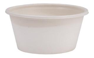 Souffle Cup 4 Oz Biodegradable Con Tapa Ecoshell 100 Pzas
