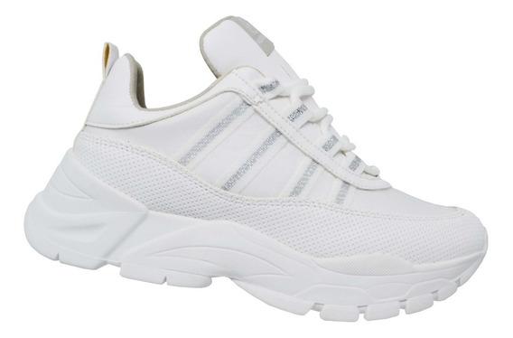 Tênis Feminino Via Marte Sneaker Dad Chunky 19-12103 Branco