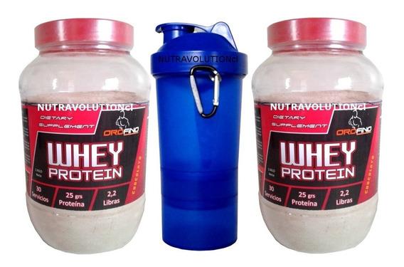 Whey Protein 2 Kg.+ 1 Shaker 3 En 1 Envio Gratis