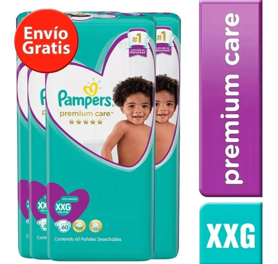 4 Paquetes Pañales Pampers Premium Care 240u. Talla Xxg