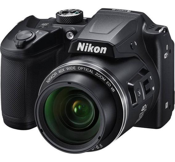 Camera Nikon Coolpix B500 Brindes +64gb+bolsa+tripe S/j Nf