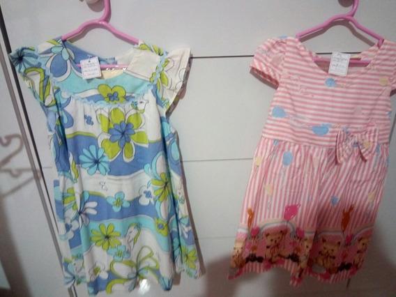Kit Vestidos Importados Infantis Tam.3 Anos - Cód.3191/309