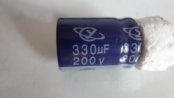Capacitor Eletrolítico 330uf 200v Ced Usado