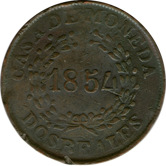 Spg Buenos Aires Argentina 2 Reales 1854 (1)
