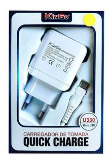 Carregador De Tomada Kingo U330 3.0/micro Usb/recarga Rápida