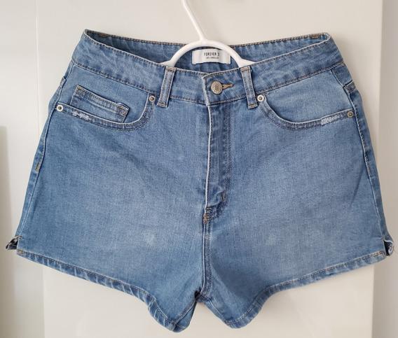 Short Jeans Forever 21 Azul Original Tamanho 36 Novo