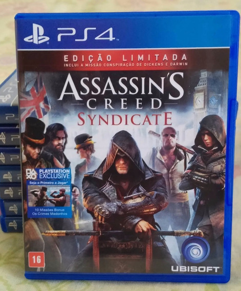Assassins Creed Syndicate Ps4 - Jogo Mídia Física Português