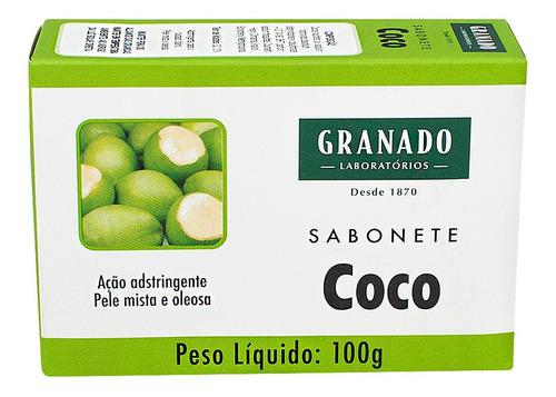Imagem 1 de 2 de Sabonete Granado Coco Com 100g Natural Peça Já O Seu....