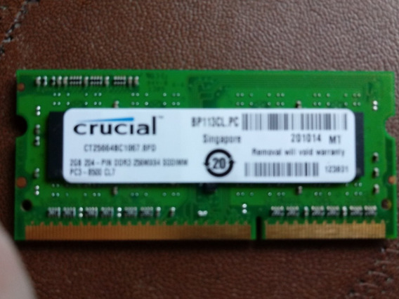 Memoria Ddr3 2 Gb Notebook