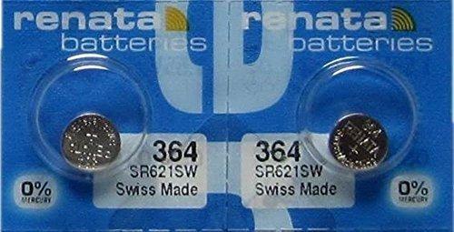 2 Baterias Renata 364 Sr621sw De Oxido De Plata Electronico