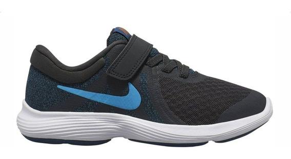 Tenis Nike Revolution 4 Psv Infantil Cadarço Elástico Preto - Original - Sem Juros