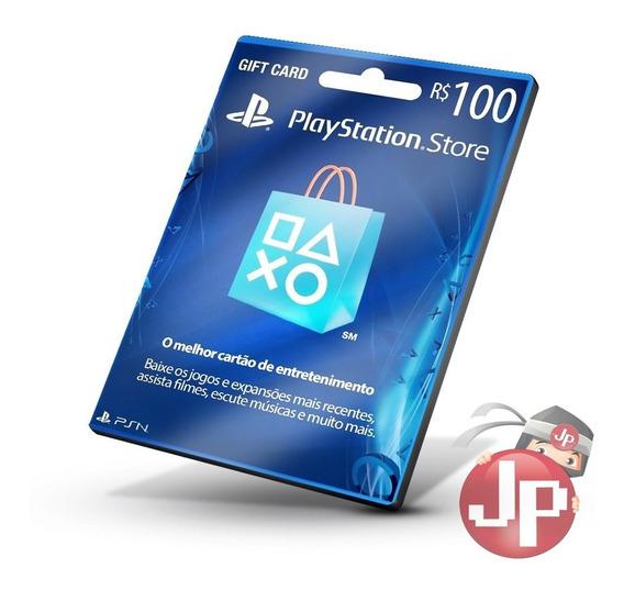 Cartão Playstation Store Brasil R$100