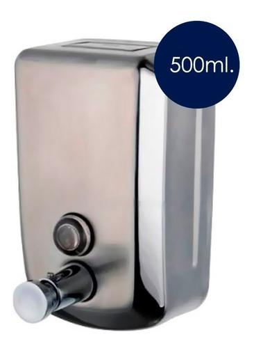 Dispensador De Jabón / Manual De 500ml Acero Inoxidable