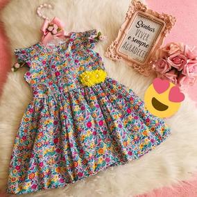 Vestido Infantil Feminino 6/12 Meses