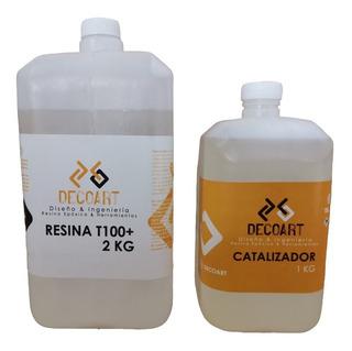 Resina Epoxica Transparente Decoart T100+ 3kg Acabados