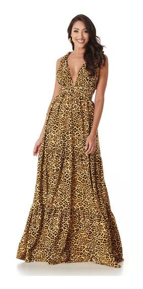 Vestido Infinity Onça Dourada Lala Dubi
