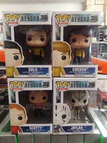 Funko Pop! Star Trek 4 Piezas Sulu + Chekov + Scotty + Jayla
