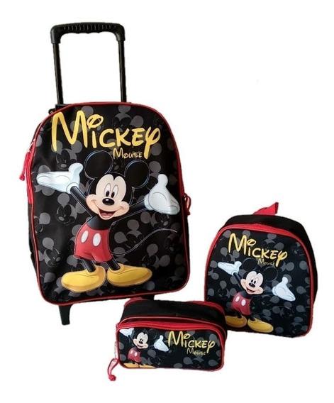 Kit Mochila Infantil Mickey Mouse Carrinho Promoção