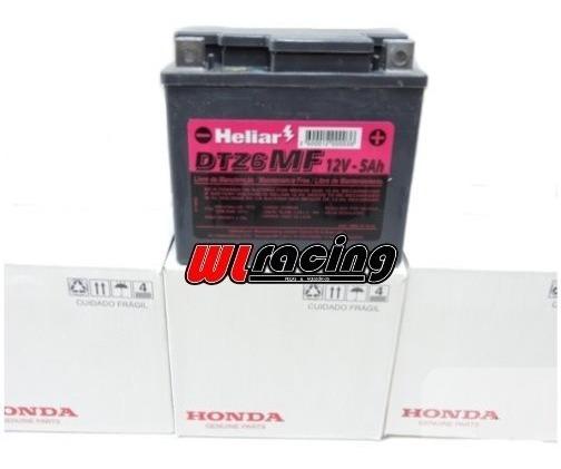 Bateria Moto Heliar Dtz 6mf 5ah Original Honda Cg Titan/xre