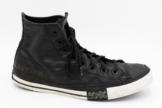 Converse All Star Botita Cuero Ac Dc Back In Black (ed Ltda)