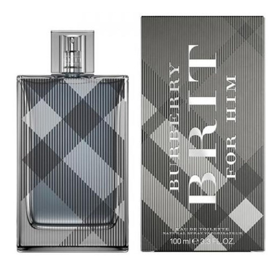Perfume Masculino Burberry Brit For Him Edt 100ml - Nf-e