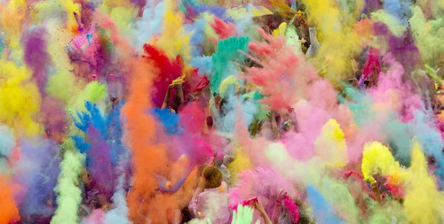 Polvo Holi De Colores Splash Color X 10 - 50 Gr - Multicolor