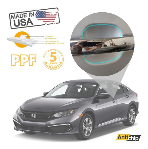 Pelicula Protetora Maçaneta Honda Civic - Antichip