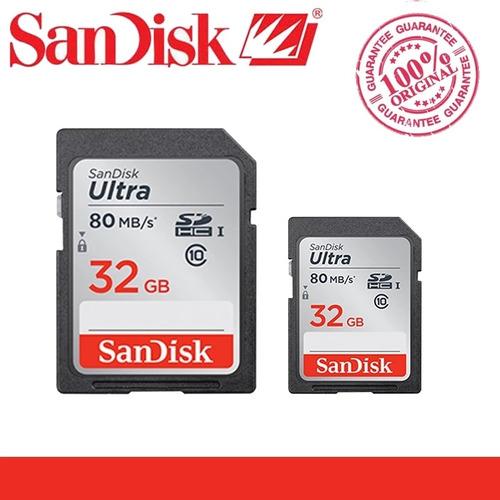 Cartão Sd 32gb Ultra 80mb/s Classe 10 Original Com Garantia