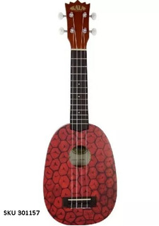 Ukelele Kala Ka-pss Mahogany Soprano Pineapple W15